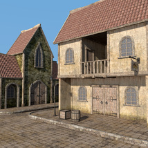 Blaviken houses set for Daz Studio image 3