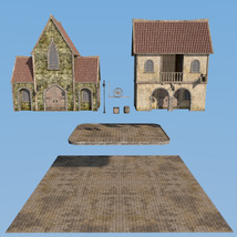 Blaviken houses set for Daz Studio image 4