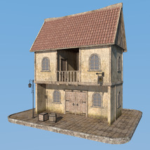 Blaviken houses set for Daz Studio image 7