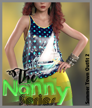 The Nanny Series: Summer Town Outfit 2 G8F 3D Figure Assets alexaana