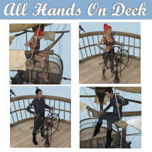 ALL HANDS ON DECK Poses for Merchant Airship DS and Genesis 8 Figures - G8F G8M  image 1