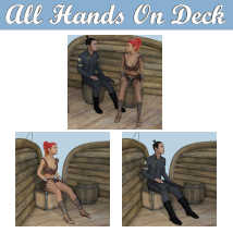ALL HANDS ON DECK Poses for Merchant Airship DS and Genesis 8 Figures - G8F G8M  image 2