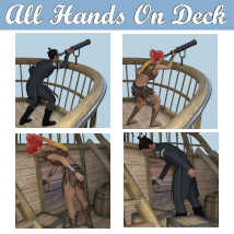 ALL HANDS ON DECK Poses for Merchant Airship DS and Genesis 8 Figures - G8F G8M  image 3