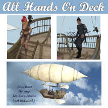 ALL HANDS ON DECK Poses for Merchant Airship DS and Genesis 8 Figures - G8F G8M  image 5