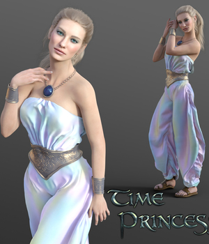 Time Princess Outfit for G8F 3D Figure Assets Namtar3D