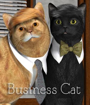 Business Cat 3D Figure Assets anniemation