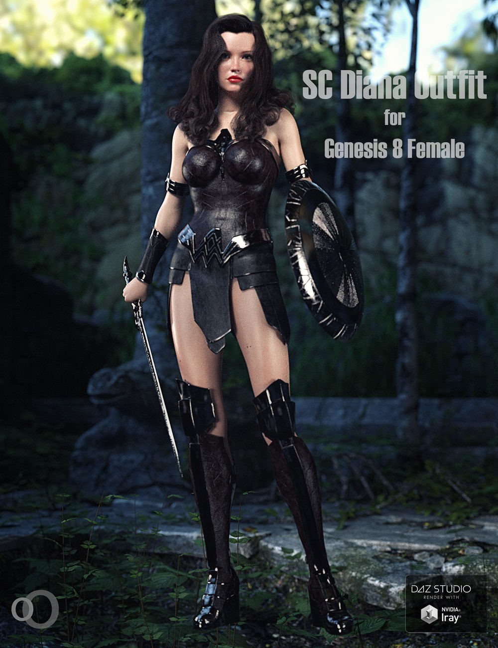 SC Diana Outfit for Genesis 8 Female by secondcircle