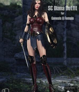 SC Diana Outfit for Genesis 8 Female 3D Figure Assets secondcircle