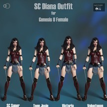 SC Diana Outfit for Genesis 8 Female image 6