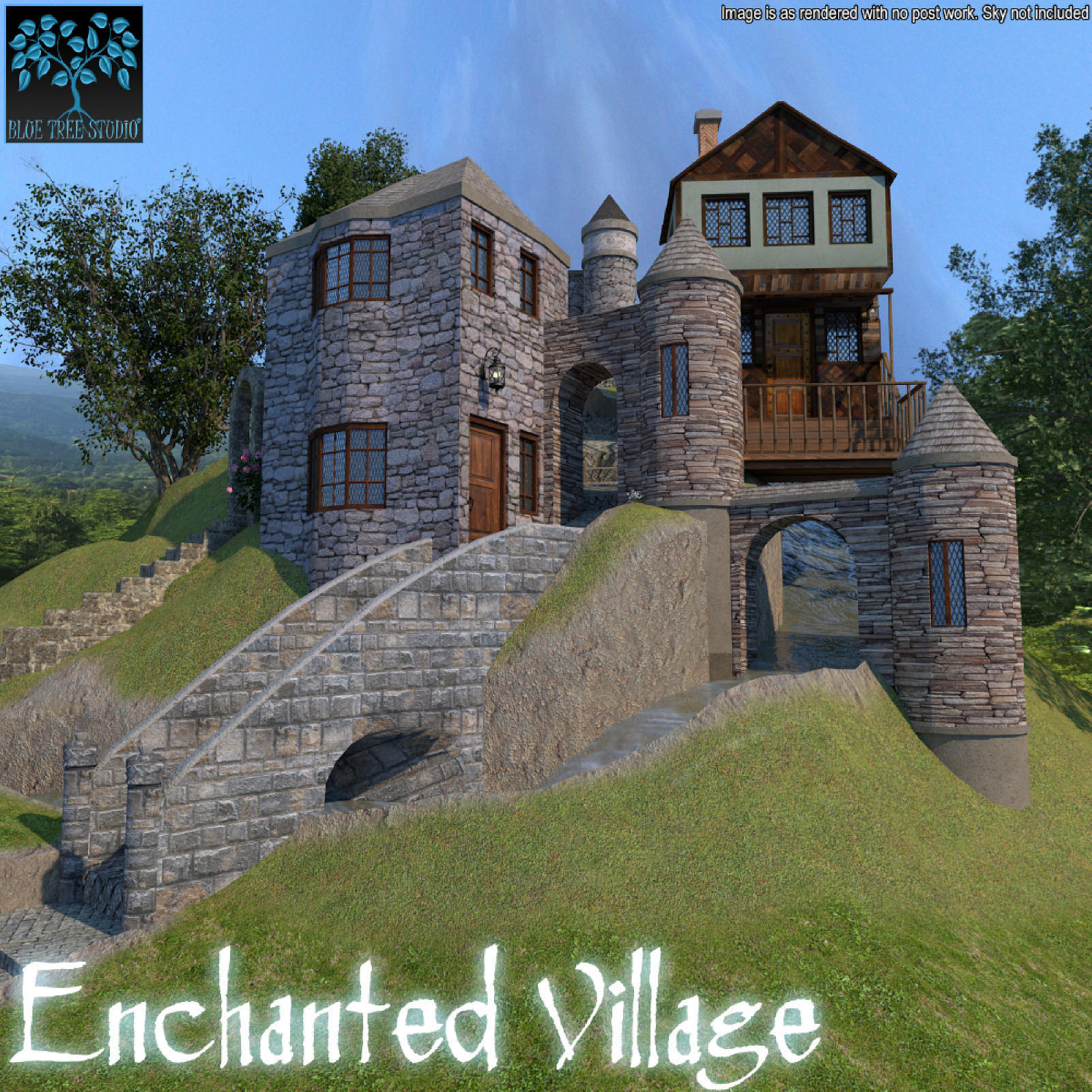 Enchanted Village for Poser by BlueTreeStudio