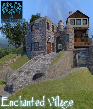 Enchanted Village for Poser 3D Models BlueTreeStudio