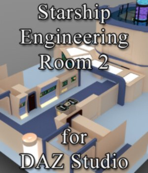 Starship Engineering Room 2 for DAZ Studio 3D Models VanishingPoint