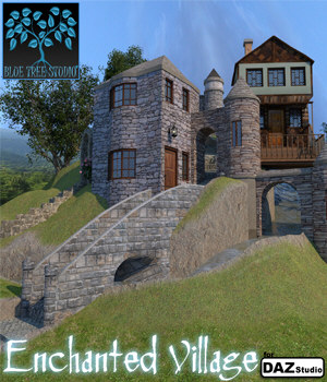 Enchanted Village for Daz|Studio 3D Models BlueTreeStudio