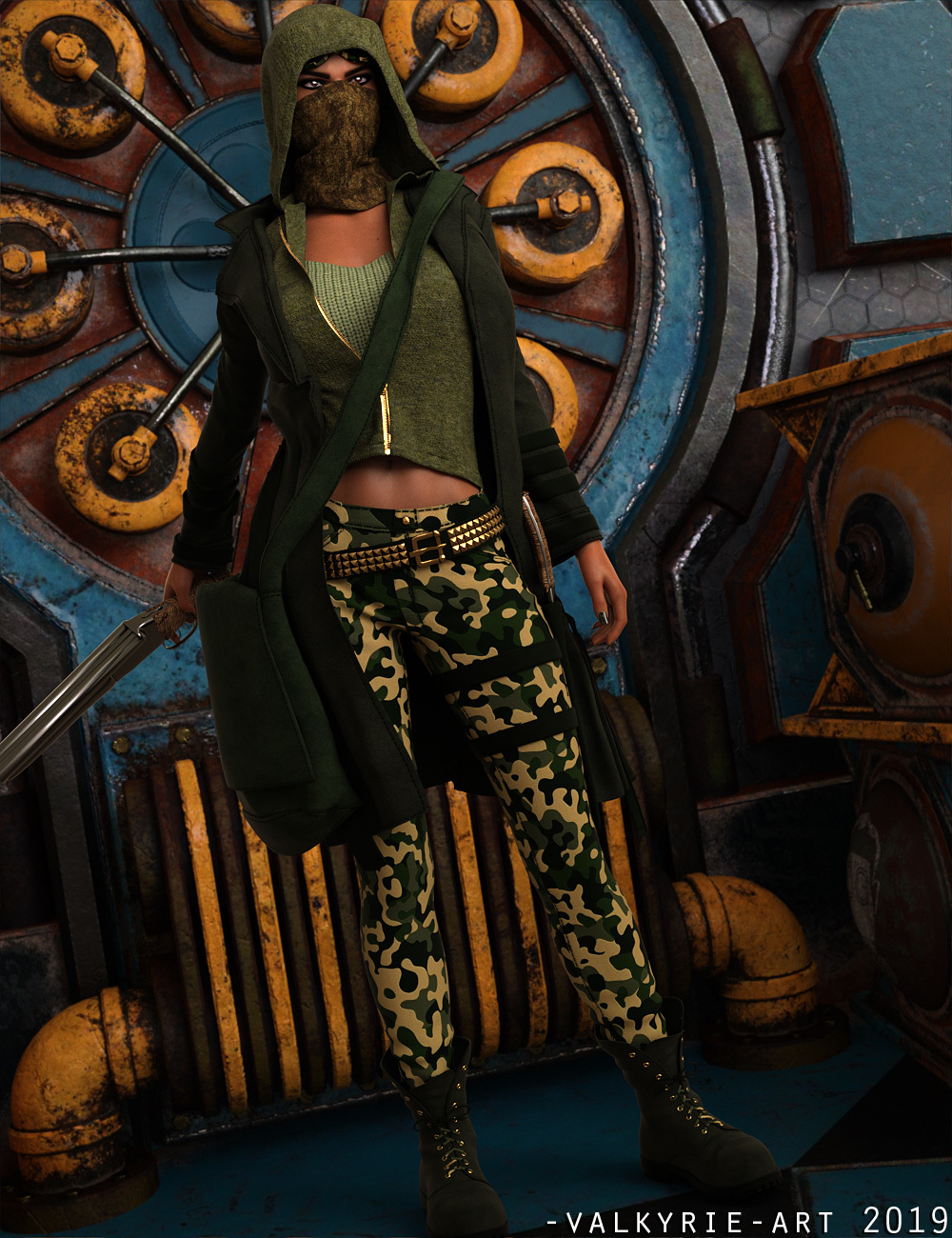 InStyle - SC Wastelander Outfit for Genesis 8 Female by -Valkyrie-