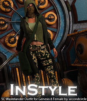 InStyle - SC Wastelander Outfit for Genesis 8 Female 3D Figure Assets -Valkyrie-