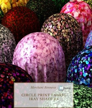 Circle Print Fabric Iray Shaders 2D Graphics 3D Figure Assets Merchant Resources nelmi