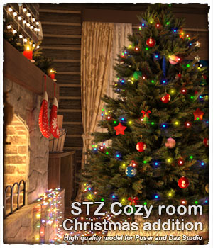 STZ Cozy room - Christmas_addition  3D Models santuziy78