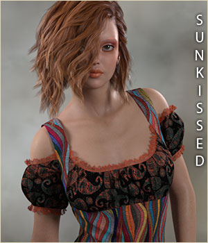 Sunkissed for Rosy Dress 3D Figure Assets sandra_bonello