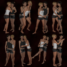 Girlfriends Couples Poses image 1