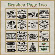 Holiday Word Art PS Brushes and Png Files Pack image 2