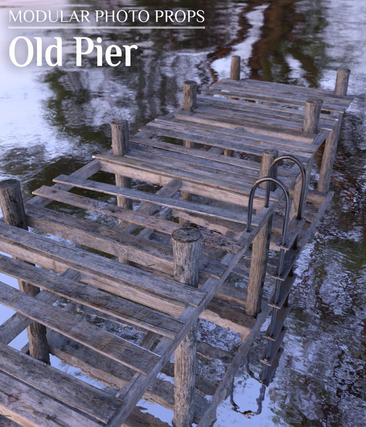 Modular Photo Props: Old Pier - Extended License by ShaaraMuse3D
