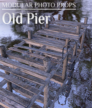 Modular Photo Props: Old Pier - Extended License 3D Models Extended Licenses ShaaraMuse3D