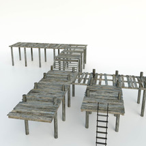 Modular Photo Props: Old Pier - Extended License image 1
