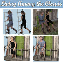 LIVING AMONG THE CLOUDS Poses for Flying House DS andGenesis 8 Figures  image 1