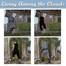 LIVING AMONG THE CLOUDS Poses for Flying House DS andGenesis 8 Figures  image 2