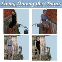 LIVING AMONG THE CLOUDS Poses for Flying House DS andGenesis 8 Figures  image 3
