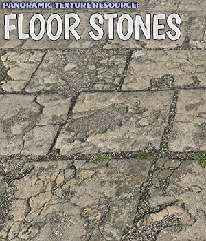 Panoramic Texture Resource: Floor Stones 2D Graphics Merchant Resources ShaaraMuse3D