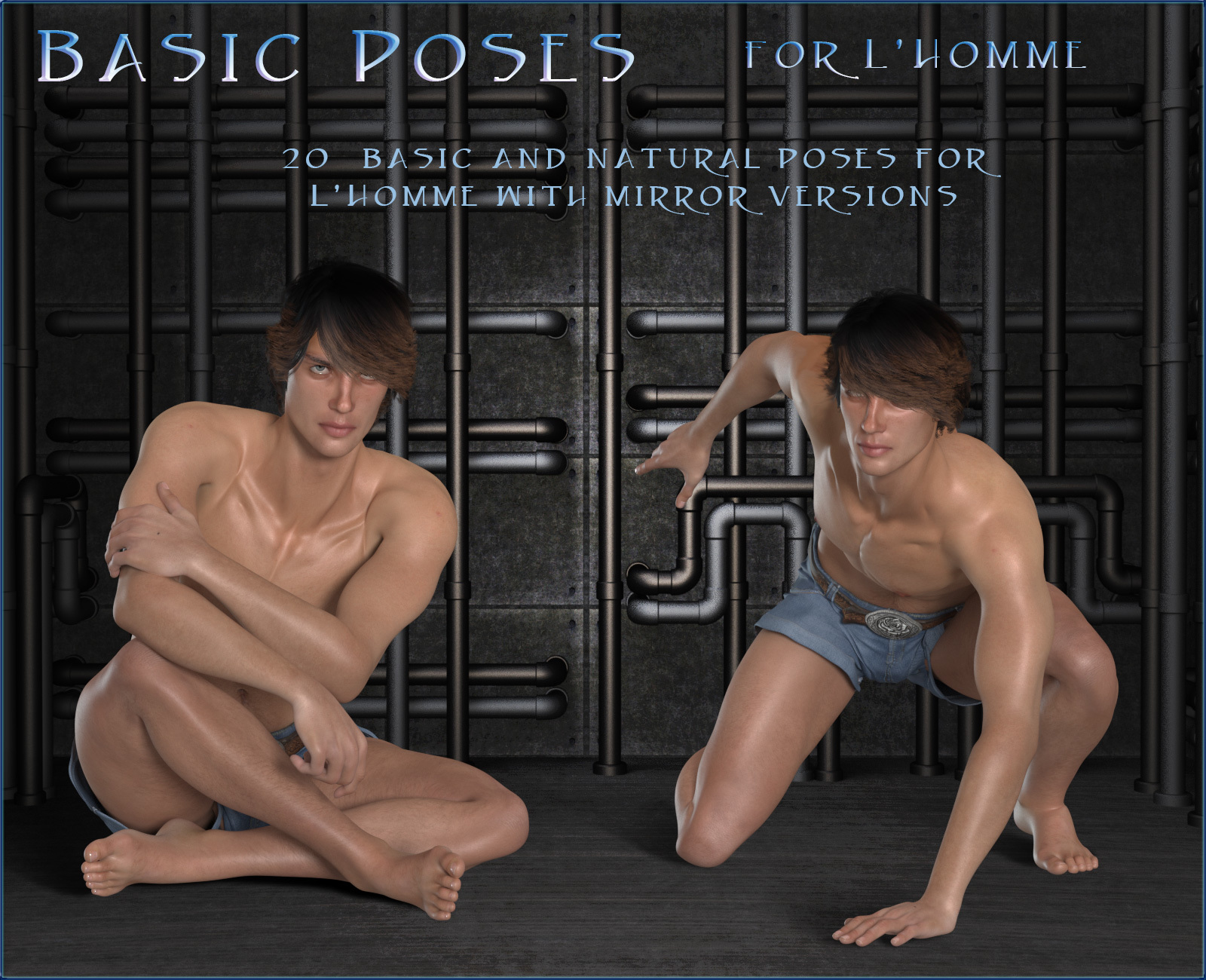 Basic Poses for L'Homme by RPublishing
