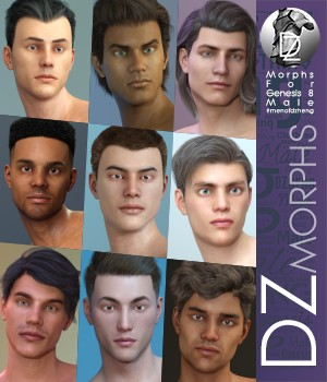 DZ G8M Faces of MOD 3D Figure Assets dzheng