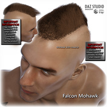 Falcon Character and Hair for Genesis 8 Male image 3