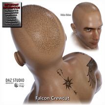 Falcon Character and Hair for Genesis 8 Male image 4