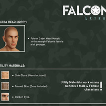 Falcon Character and Hair for Genesis 8 Male image 8
