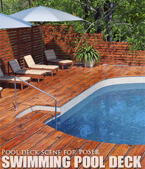 Swimming Pool Deck Poser 3D Models lilflame