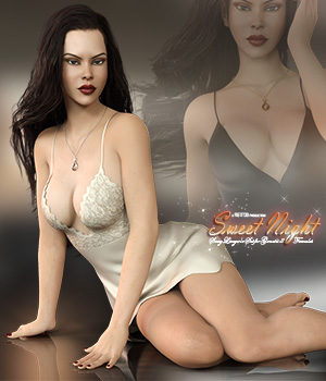 Sweet Night Lingerie Set for Genesis 8 Females 3D Figure Assets Pretty3D