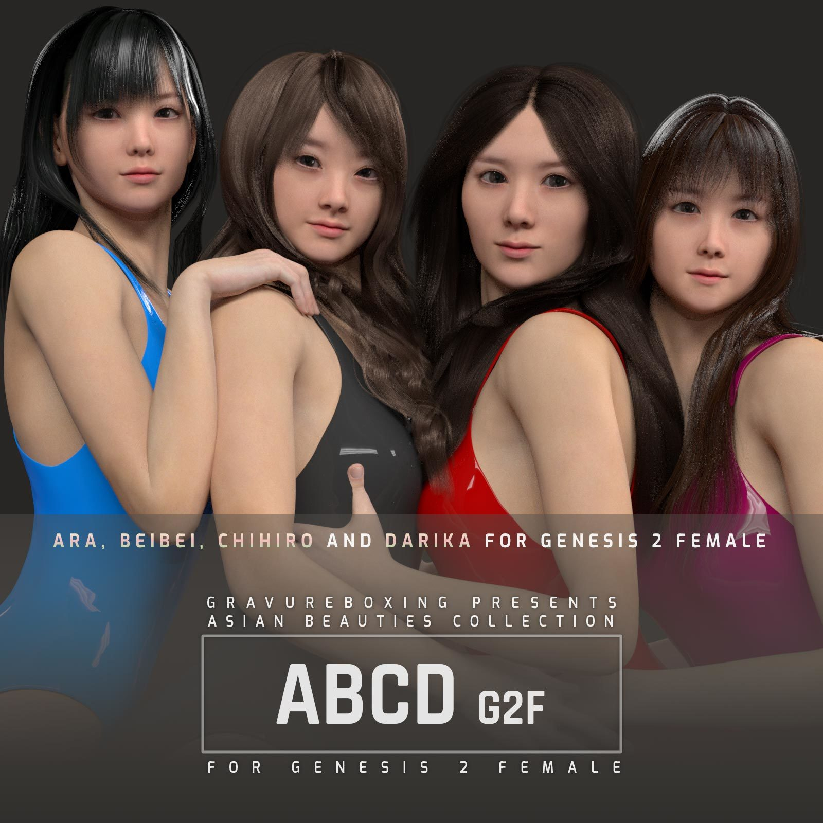 ABCD G2F HEAD MORPHS ONLY for Genesis 2 Female by gravureboxing