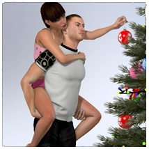 STZ Christmas day poses for LaFemme image 3