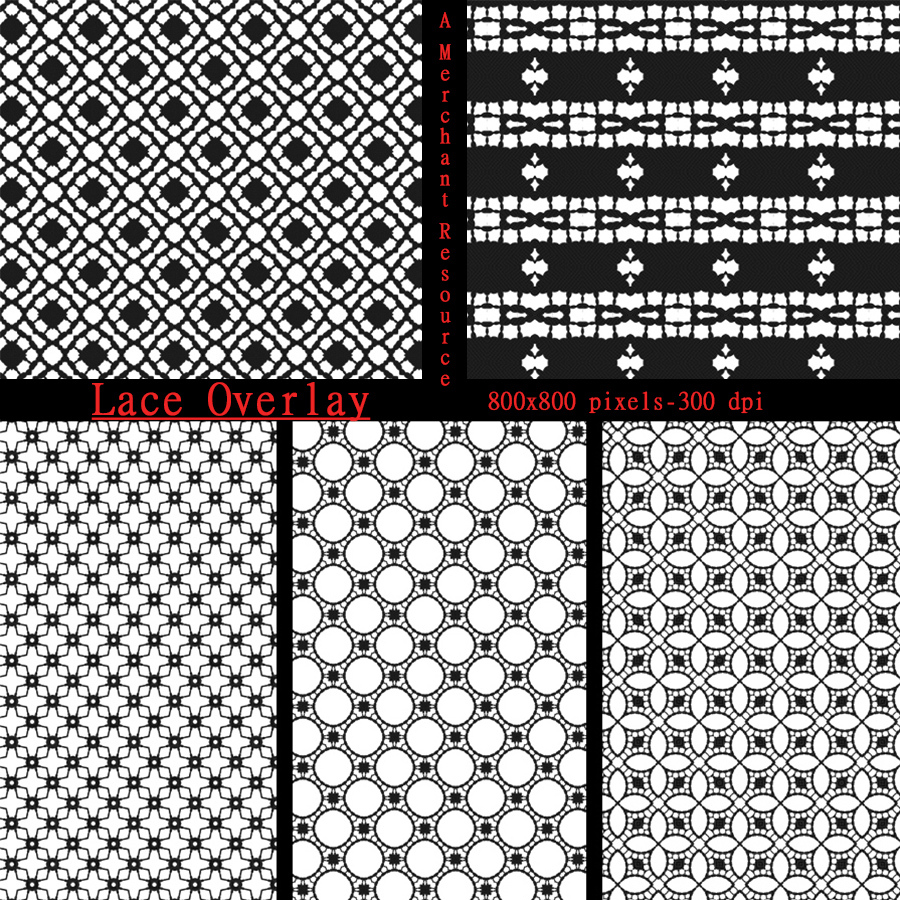 Seamless Lace PNG Overlays by adarling97