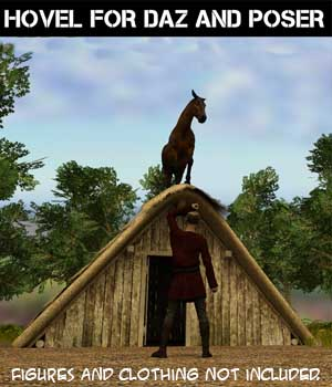 Hovel for Daz and Poser 3D Models genejoke