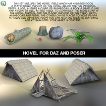 Hovel for Daz and Poser image 4