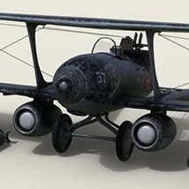 Jet Biplanes Redux for DS Iray only image 3