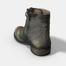 Photoscanned Female Ankle Boots - Extended License image 3