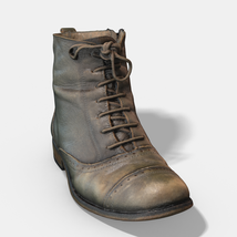 Photoscanned Female Ankle Boots - Extended License image 6