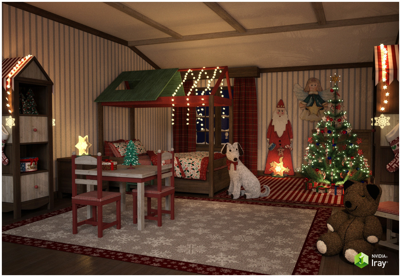 Christmas Kids Bedroom
