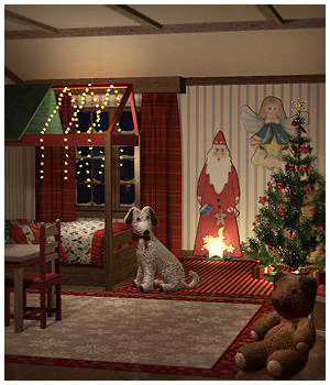 Christmas Kids Bedroom 3D Models RPublishing
