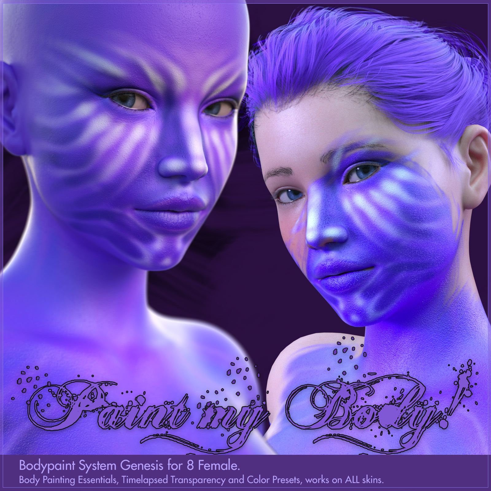 Bodypaint for Genesis 8 Female by DireWorks