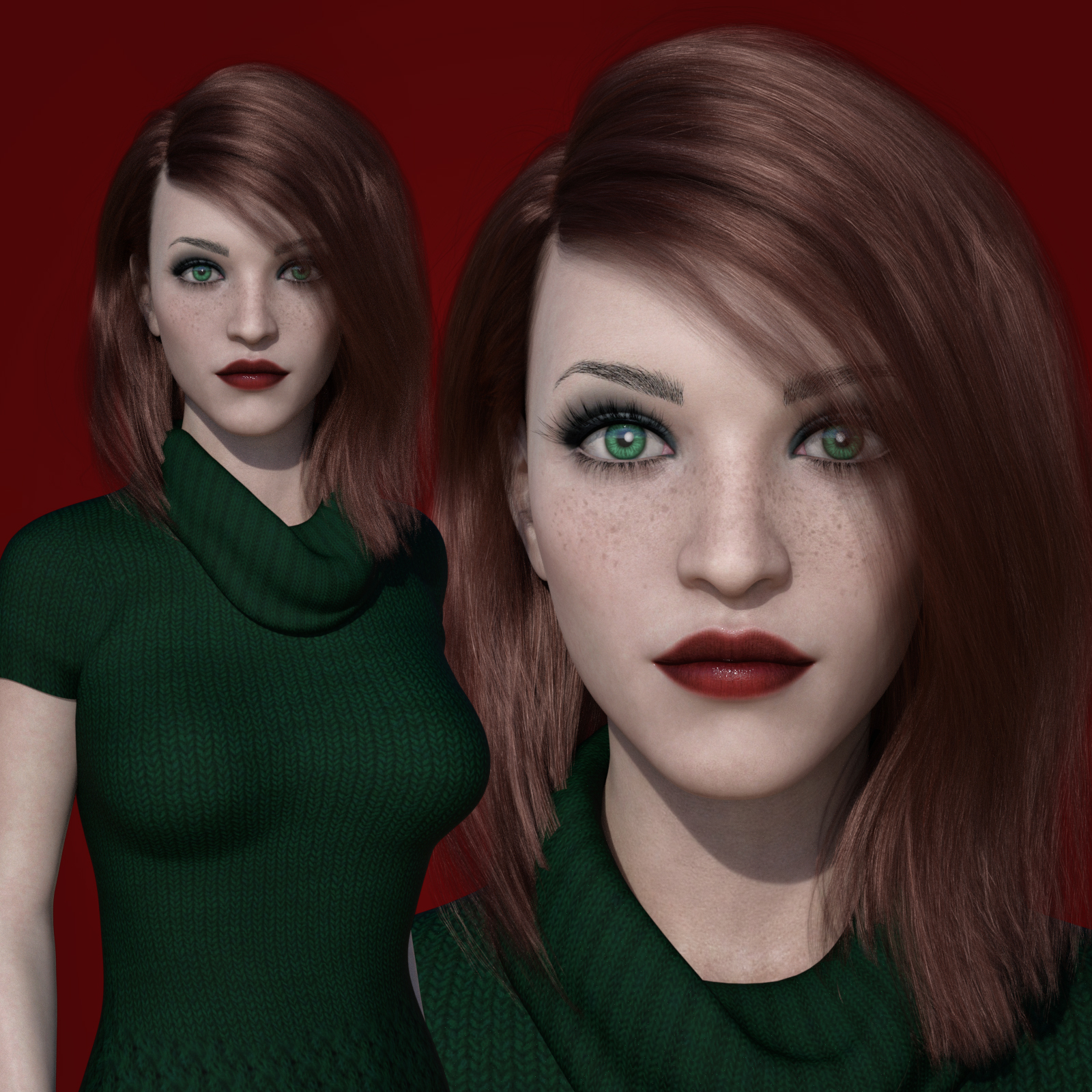 MbM Harlow for Genesis 3 and 8 Female by Heatherlly